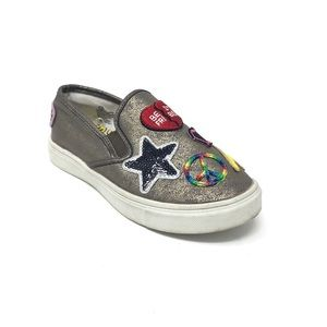 Girls Slip-On Sneakers w/ Patches